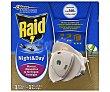 Insecticida raid eléctrico night&day 1 difusor + 1 recambio Unidad Raid