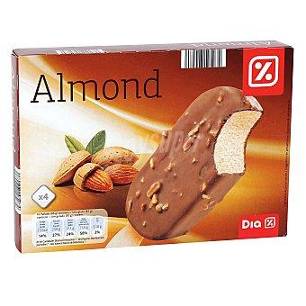 DIA Helado bombón chocolate con almendras caja 4 uds 340 gr 4 uds 340 gr