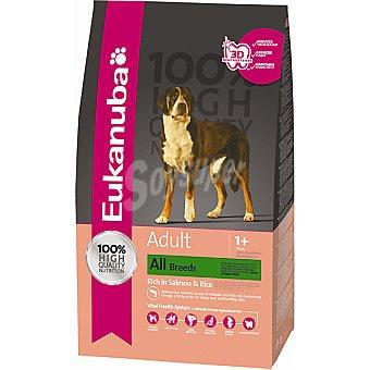 EUKANUBA ADULT alimento completo para perros adultos de todas las razas con salmón y arroz  bolsa 12 kg