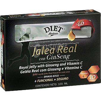Diet Rádisson Jalea real fresca con ginseng stick 10 unidades estuche 100 ml 10 unidades