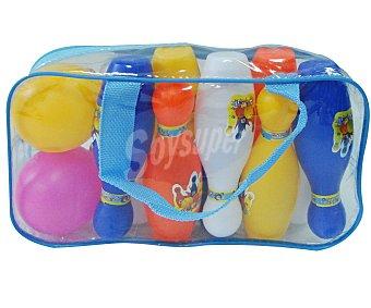 Euraspa Conjunto de bolos + bola de plástico 1 unidad