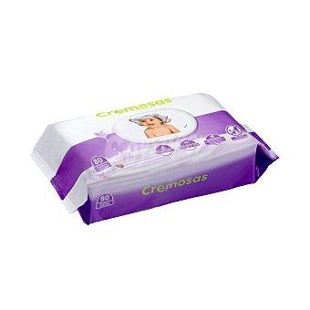 Deliplus Toallitas húmedas bebe con crema hidratante y aloe vera Paquete 80 u