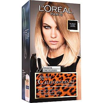 Preference L'Oréal Paris Crema colorante para mechas californianas de rubio claro a rubio caja 1 unidad incluye cepillo experto Caja 1 unidad