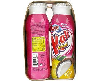 KALIGLUB de KALISE Yogur Líquido piña/coco Pack 4 Unidades de 175 Gramos