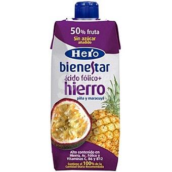 Hero Néctar piña y maracuyá con ácido fólico hierro Bienestar