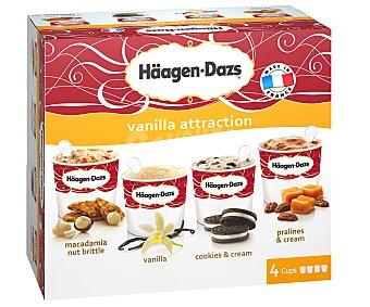 HAAGEN-DAZS Caramel Attraction tarrinas de helado sabor caramelo estuche 344 ml 4 unidades de 86 ml