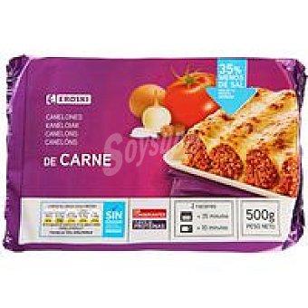 Eroski Canelones de Carne Bandeja 500 g