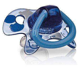 NEW VALMAR Chupete ortodontico de 0-6 meses color azul 1 unidad
