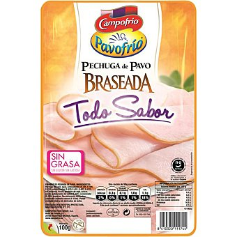 Pavofrío Campofrío Pechuga de pavo braseada 0% grasa 4 lonchas Envase 100 g