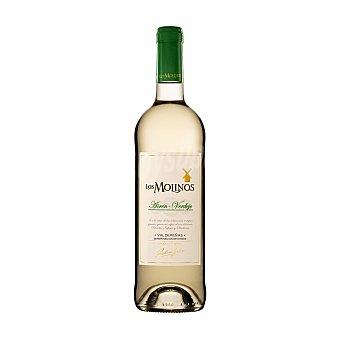 Los Molinos Vino blanco verdejo con denominación de origen Valdepeñas Botella de 75 cl