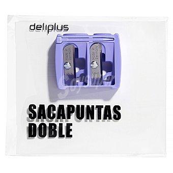 Deliplus Sacapuntas doble (lapiz fino y grueso) U