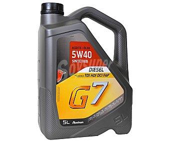 Auchan Aceite sintético para vehículos diésel, Inyección Directa, tdi, hdi, dci, fap, G7 5 Litros