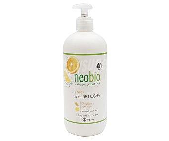 Neobio Gel para baño o ducha con dosificador y extracto de naranja y limón bio para todo tipo de pieles 500 ml