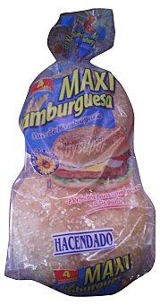 Hacendado Pan hamburguesa maxi con sésamo Paquete 4 u - 300 g