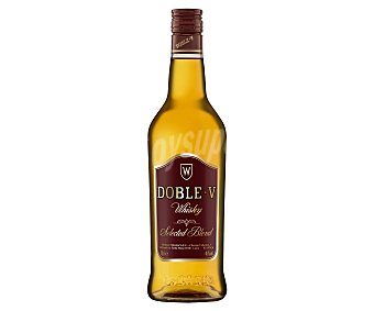 Doble V Whisky selected blended, elaborado en España Botella de 70 cl
