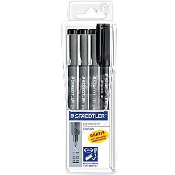 Staedtler Rotuladores Calibrados Pigment Liner + Rotulador Lumocolor permanente Pack 3