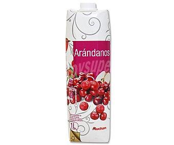AUCHAN Zumo de manzana, arándano rojo y aronia 1 litro