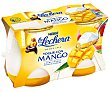 Yogur natural azúcarado con pure de mango 2 x 125 g La Lechera Nestlé