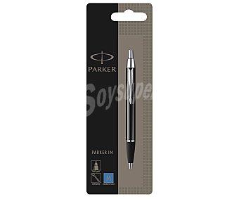 Parker Bolígrafo del tipo roller, con punta retráctil accionada por giro de grosor medio y tinta líquida de color azul 1 unidad