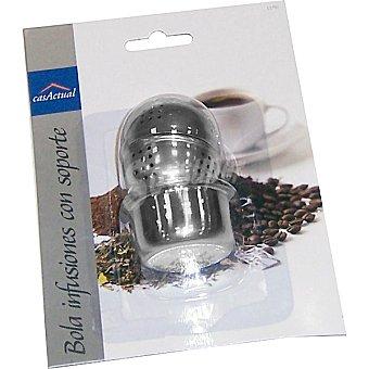 CASACTUAL Bola para infusiones con soporte en acero inoxidable