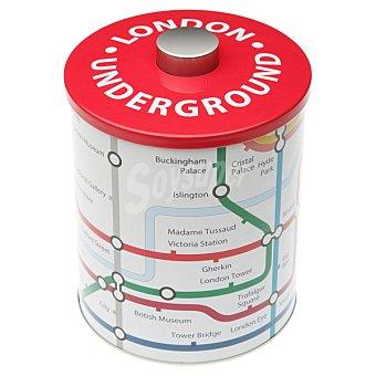 QUO Bote metálico redondo metro Londres 1 unidad
