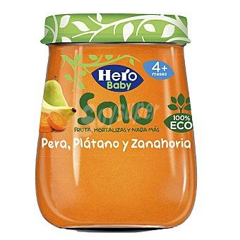 Hero Baby Solo pera, plátano y zanahoria 100% ecológica tarrito 120 gr