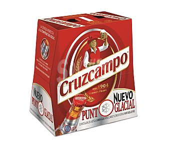 Cruzcampo Cerveza rubia Pack 6 botellines x 25 cl