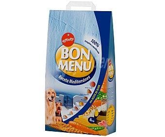 Bon Menu Affinity Comida seca para perros: Croquetas Receta mediterránea (pollo y vegetales, manzana, maíz, zanahoria, queso y arroz) 10 Kilogramos