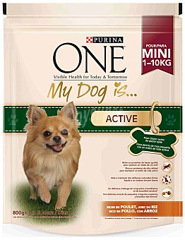 Purina One Comida para perros My Dog is con Pollo y Arroz 800 gr