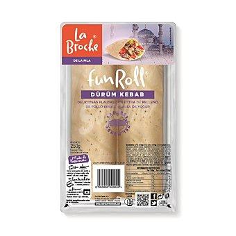 La Broche Fun Roll flautas con extra de relleno de pollo kebab y salsa de yogur Envase 250 g (2 u)