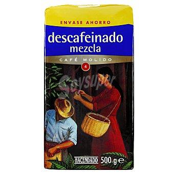 Hacendado Cafe molido descafeinado mezcla Nº4 Paquete 500 g