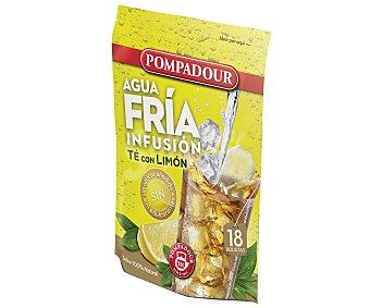 Pompadour Infusión de té negro con limón para tomar frío 18 unidades
