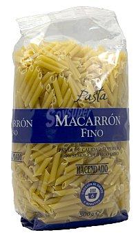 Hacendado Macarron fino pasta Paquete 500 g
