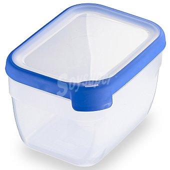 Curver Hermetico rectangular tapa transparente y azul 24 l 24 l