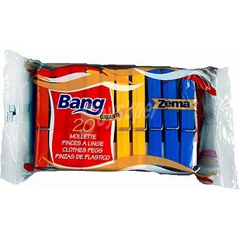 BANG Pinzas para la ropa de plástico Paquete 20 unidades