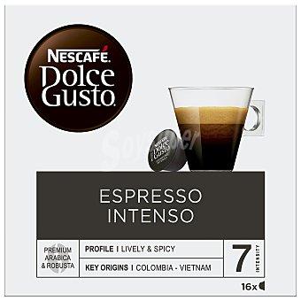 Dolce Gusto Nescafé Café espreso intenso en cápsulas, Intensidad 7 16 uds. 112 g