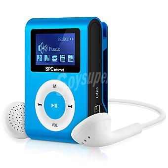 SPC TELECOM Reproductor MP3 de música Clip&go azul 4 GB