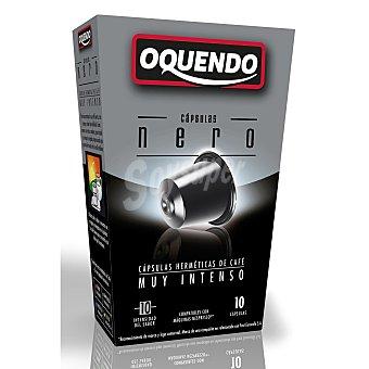 Oquendo Café muy intenso 10 cápsulas caja 50 gr 10 c