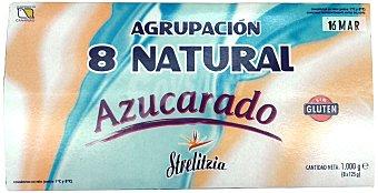 STRELITZIA Yogur natural azucarado Pack 8 x 125 g - 1 kg