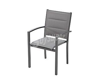 COMATEX Sillón con brazos, estructura de aluminio y respaldo y asiento de textileno 1 unidad