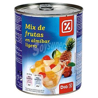 DIA Mix de frutas en almibar ligero lata 480 gr Lata 480 gr