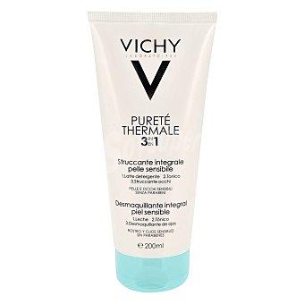 Vichy Leche desmaquillante 3 en 1 limpiadora, tonificante y desmaquillante, 200 Mililitros