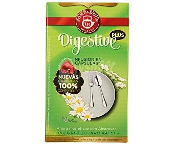 Pompadour Infusión digestive (mezcla de plantas naturales) en monodosis 10 unidades