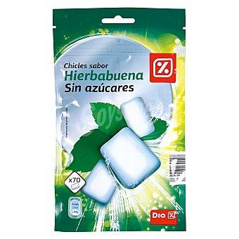 DIA Chicle sabor hierbabuena sin azúcares Bolsa 98 gr