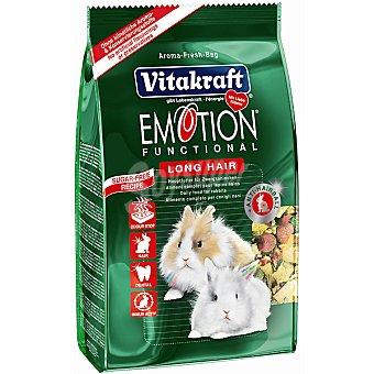 Emotion Vitakraft Alimento premium para conejos enanos con pelo largo Paquete 600 g