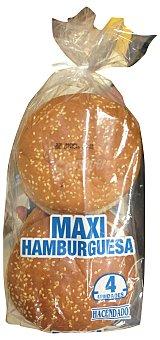 HACENDADO Pan hamburguesa maxi con sésamo Paquete 2 unidades (150 g)