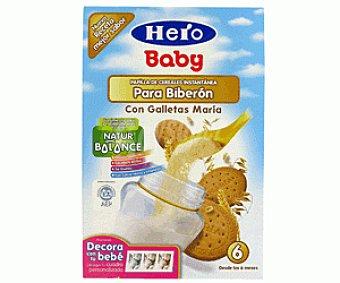 Hero Baby Papilla Cereales para Biberón con Galleta 600 Gramos