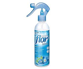 Flor Instant Perfumador de ropa azul, devuelve el frescor de recién lavado a tu ropa Botella de 345 mililitros