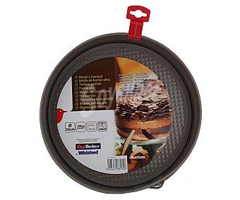Auchan Molde de aluminio antiadherente para tartas, bizcochos...desmontable para fácil desmoldado, 26 centímetros de diámetro 1 Unidad