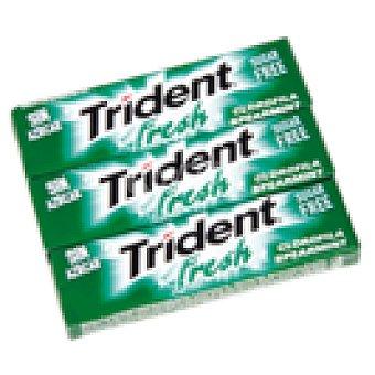 Trident Fresh chicle láminas sabor hierbabuena paquete 3 uds Paquete 3 uds